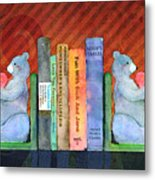Bear Bookends Metal Print by Arline Wagner