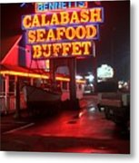 Bennetts Calabash Seafood Buffet Myrtle Beach Metal Print by Corky Willis Atlanta Photography