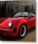 Black Forest - Red Speedster Metal Print by Douglas Pittman