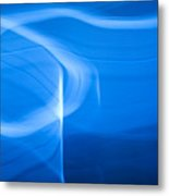 Blue Abstract 2 Metal Print by Mark Weaver