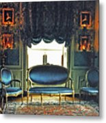 Blue Drawing Room Metal Print by DigiArt Diaries by Vicky B Fuller