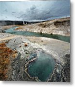 Blue Hole Metal Print by KH Graphic