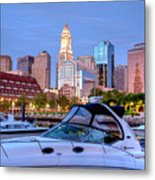 Blue Morning On Boston Harbor Metal Print by Susan Cole Kelly