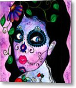 Blue Peepers Metal Print by B Marie