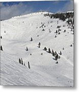Blue Sky Basin Panorama - Vail Colorado Metal Print by Brendan Reals