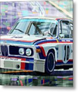 Bmw 3 0 Csl 1st Spa 24hrs 1973 Quester Hezemans Metal Print by Yuriy  Shevchuk