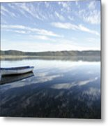 Boat On Knysna Lagoon Metal Print by Neil Overy