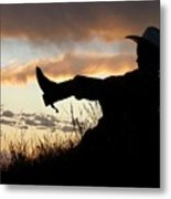 Boots On Metal Print by Carla Froshaug