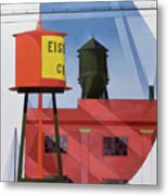 Buildings Abstraction Metal Print by Charles Demuth