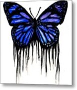 Butterfly Tears Metal Print by Mike Grubb