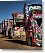Cadillac Ranch Metal Print by Lana Trussell