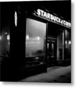 Cafe At Night  Metal Print by Andrew Fare