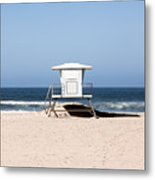 California Lifeguard Tower Photo Metal Print by Paul Velgos