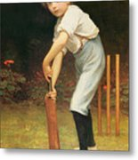 Captain Of The Eleven Metal Print by Philip Hermogenes Calderon
