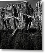 Castle Mountain Panoramic Metal Print by Brent Mooers