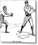 Catcher & Batter, 1889 Metal Print by Granger