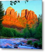 Cathedral Rock Metal Print by Frank Houck