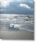 Caught A Wave Metal Print by B Rossitto