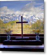 Chapel With A View Metal Print by Charles Warren