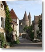 Chateauneuf En Auxois Burgundy France Metal Print by Marilyn Dunlap