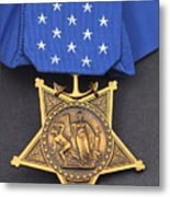 Close-up Of The Medal Of Honor Award Metal Print by Stocktrek Images