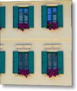 Colorful Building Metal Print by David Buffington