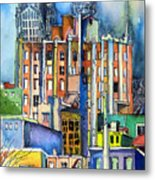 Columbus Ohio City Lights Metal Print by Mindy Newman