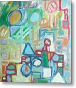 Composition No 4 Metal Print by Michael Henderson