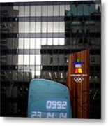 Countdown Clock Olympic Winter Games Vancouver Bc Canada 2010 Metal Print by Christine Till