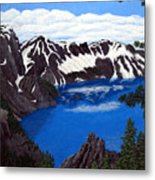 Crater Lake Metal Print by Frederic Kohli