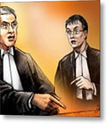 Crown Michael Carnegie Versus Defence Lawyer Dirk Derstine At The Rafferty Trial Metal Print by Alex Tavshunsky