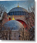 Dawn Over Hagia Sophia Metal Print by Joan Carroll