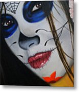 Day Of The Dead Girl Metal Print by Alex Rios