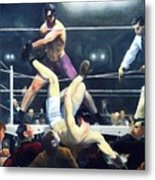 Dempsey And Firpo Metal Print by Pg Reproductions