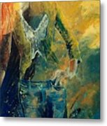 Dinner Jacket Metal Print by Pol Ledent