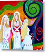 Dream Of A Jungian Marriage Metal Print by Angela Annas