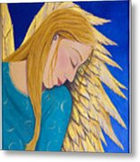 Dreaming Angel Metal Print by Jacqueline Lovesey