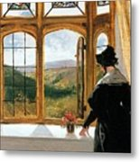 Duchess Of Abercorn Looking Out Of A Window Metal Print by Sir Edwin Landseer