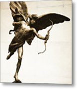 Eros Statue Metal Print by Neil Overy