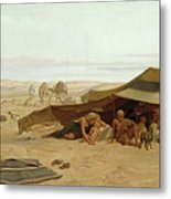 Evening Prayer In The West Metal Print by Frederick Goodall