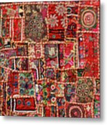 Fabric Art - Patch Work Metal Print by Milind Torney