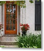 Fairhope Doorway Metal Print by Michael Thomas