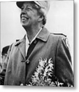 Fdr Presidency. Eleanor Roosevelt Metal Print by Everett