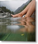 Feet On The Water Metal Print by Mats Silvan
