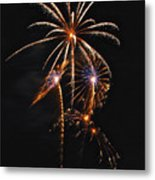 Fireworks 5 Metal Print by Michael Peychich