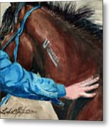 First Touch Metal Print by Linda L Martin