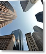 Fish-eye Lens Of Building Metal Print by Robin Houde photography