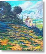 Flower Hill Metal Print by Sinisa Saratlic