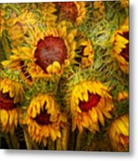 Flowers - Sunflowers - You're My Only Sunshine Metal Print by Mike Savad