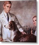 Frederick Banting And Charles Best Metal Print by Everett